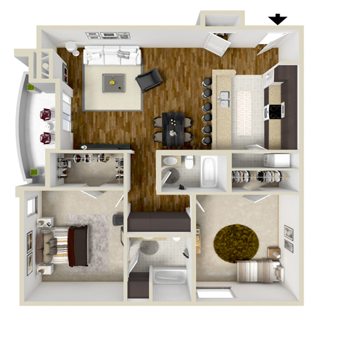 Two-Bedroom A