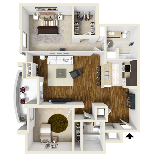 Two-Bedroom B
